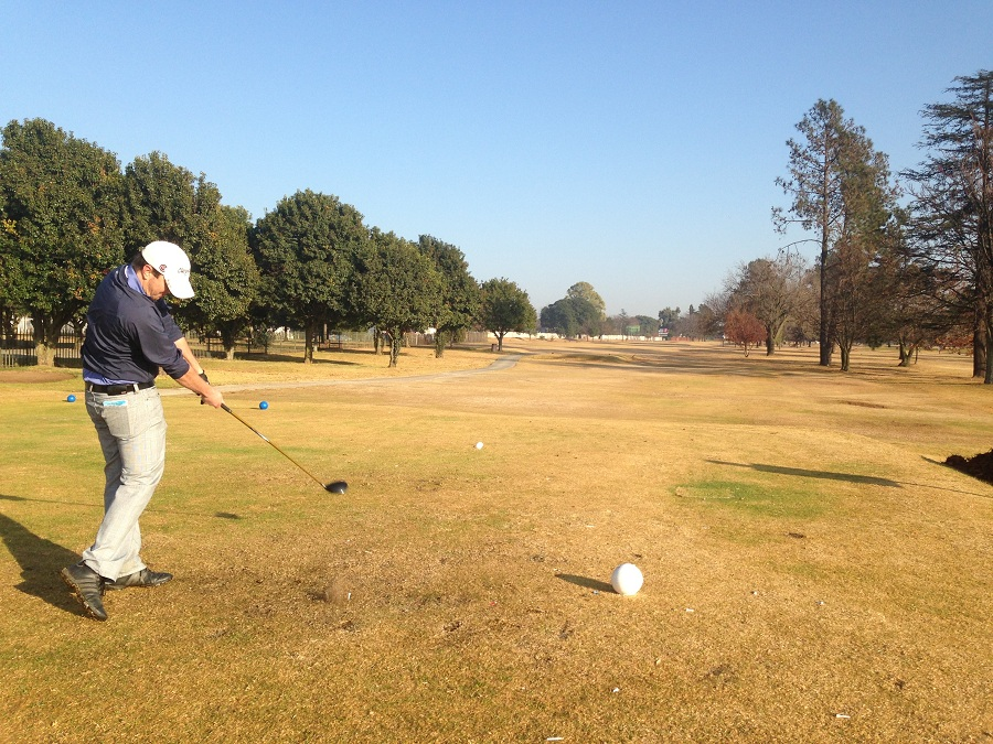 Chip Robertson in action at Benoni Lake