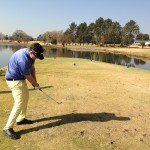 Damian Murphy in Action on Benoni Lake's 16th hole