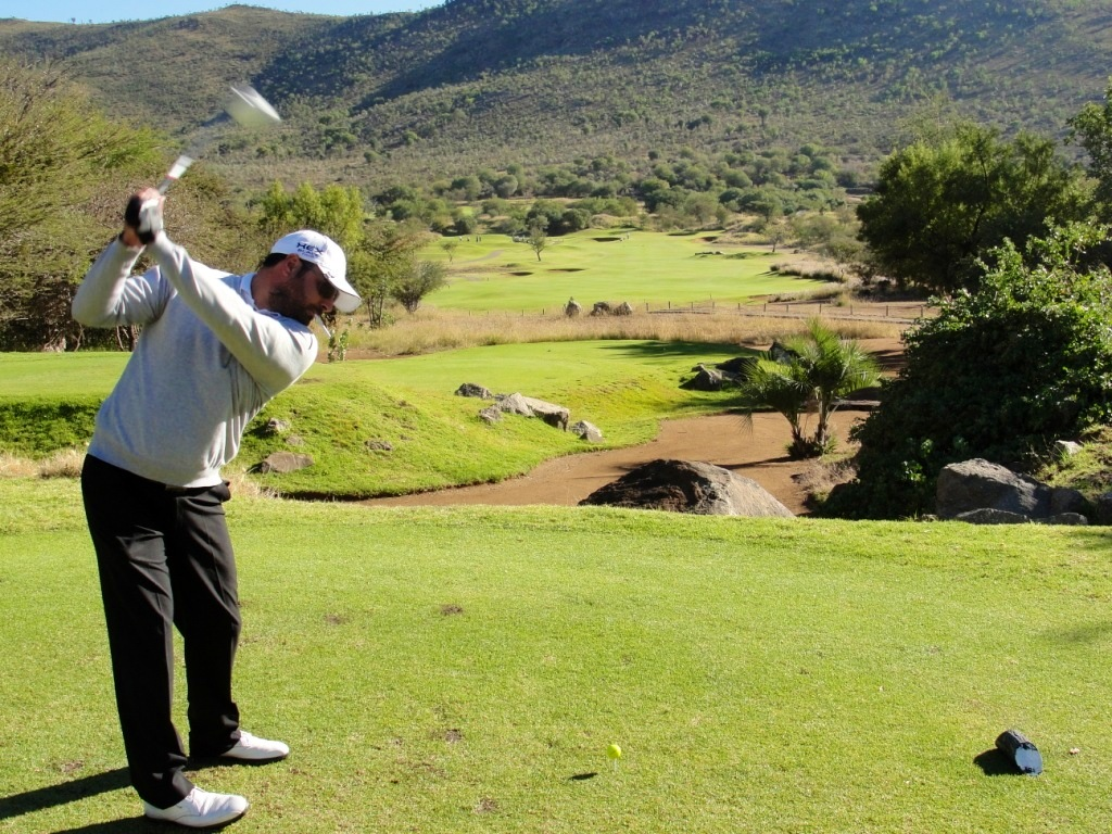 Tarquin Clark teeing it up on Sun City's Lost City Golf Course