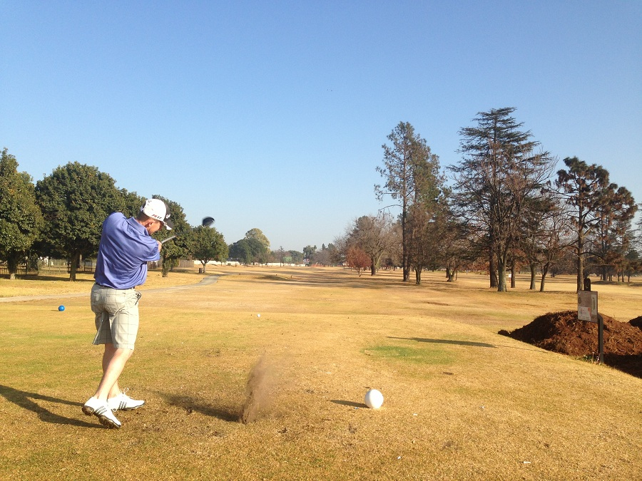Nick Rebello on Benoni's 10th hole