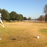 Eventual winner of the Benoni Lake Round - Ryan Bernberg on the 10th tee