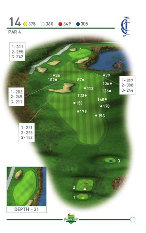 CCJ 14th Hole Pocket Caddi Graphic