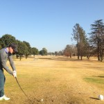 Mike Moolman with a booming drive at Benoni Lake