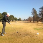 Warwick Keet in action at Benoni Lake Golf Club