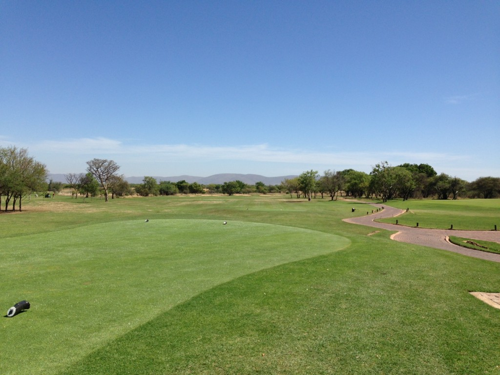 Zebula Golf Club's 1st hole in summertime