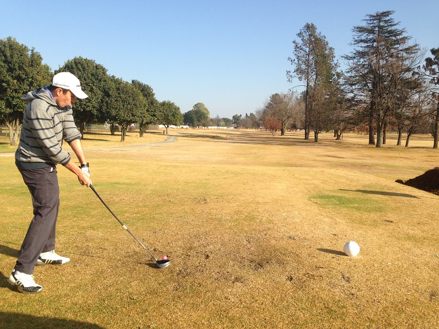 Justin Stoop in Action on Benoni's 10th Hole