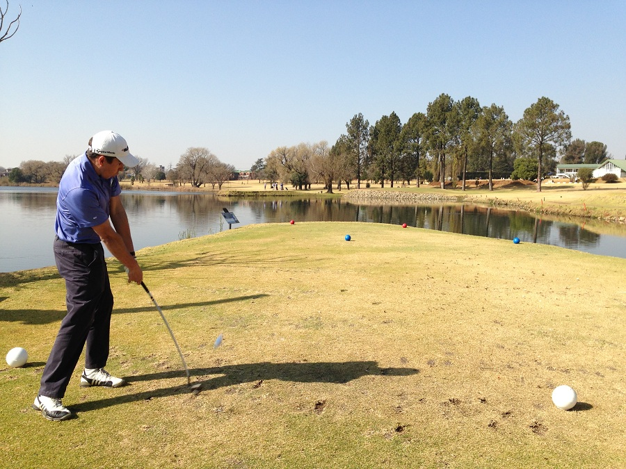 Justin Stoop in Action on Benoni's 16th Hole