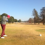 Ryan Hendry nails his first drive at Benoni Lake
