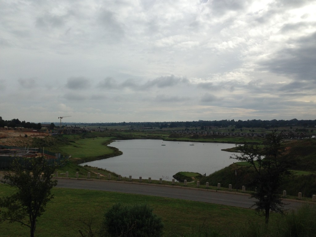 View of the 12th hole at Ebotse Golf Links, plus the driving range
