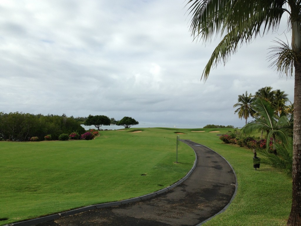 Par 3 17th at Four Seasons Golf Club Mauritius at Anahita